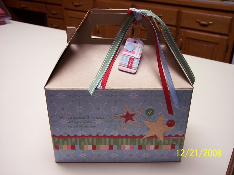 Christmas gable box