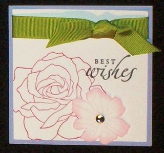 5th avenue floral card with pretties
