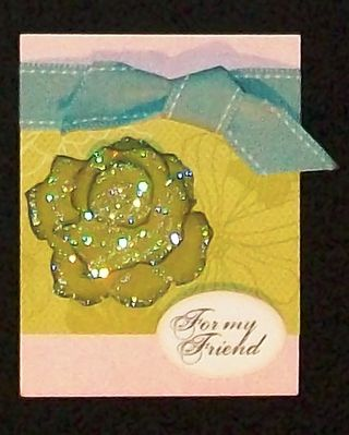 5th avenue floral glittery card