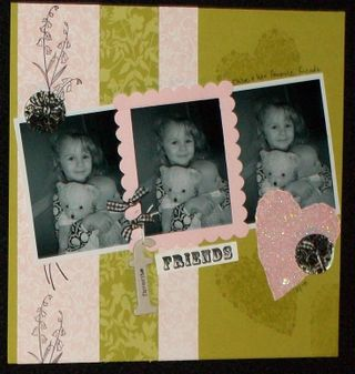 Ever after baby scrapbook page