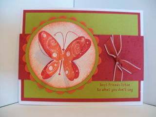 Butter fly card
