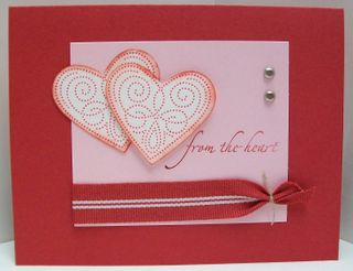 Polka dot punches heart card