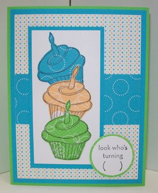 Birthday - cupcake card