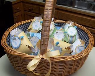 Basket of diaper treats