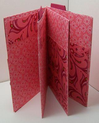 One sheet wonder mini scrapbook album open