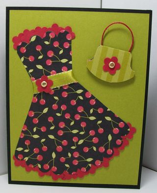 Scallop dress swap card