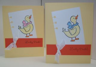 Lucky duck simple cards