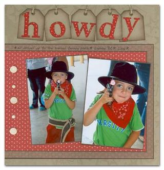 Howdy scrapbook page