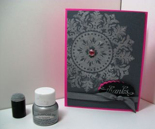 Shimmer paint card