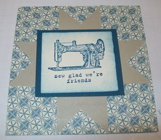 Faux quilt card with focal point