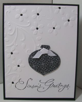 Christmas cards session 3 - black ornament