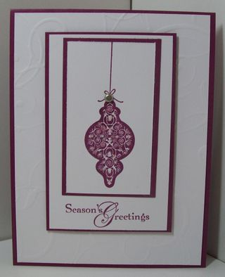 Christmas cards session 3 = rich razzleberry ornament