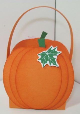 Halloween treats pumpkin basket