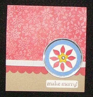 Berry christmas metal edge tag