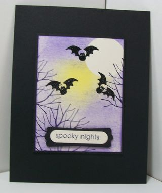 Brayered halloween card