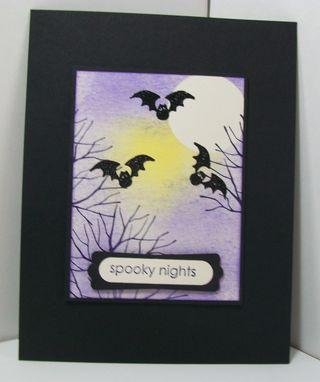 Brayered halloween card