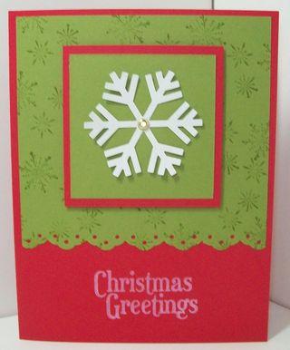 Christmas cards session 3 - jumbo snowflake