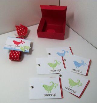 Berry christmas make and takes box