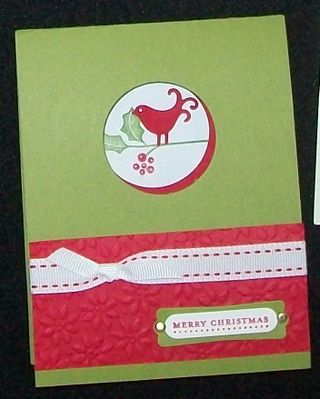 Berry christmas peek a boo card