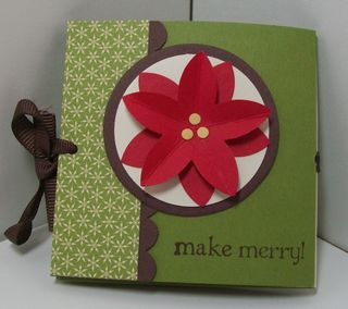 Berry christmas mini album