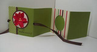 Berry christmas mini album open