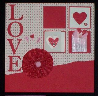 12x12 love scrapbook page