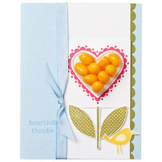Heart treat cup and sweetheart stamp