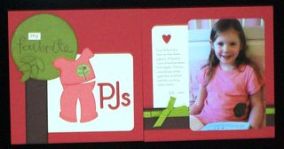 Favorite pj's scrapbook layout