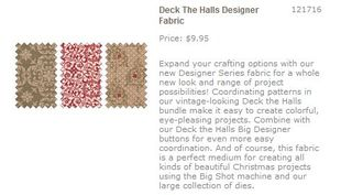 Deck the hall fabric