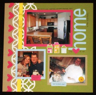 Home scrapbook page